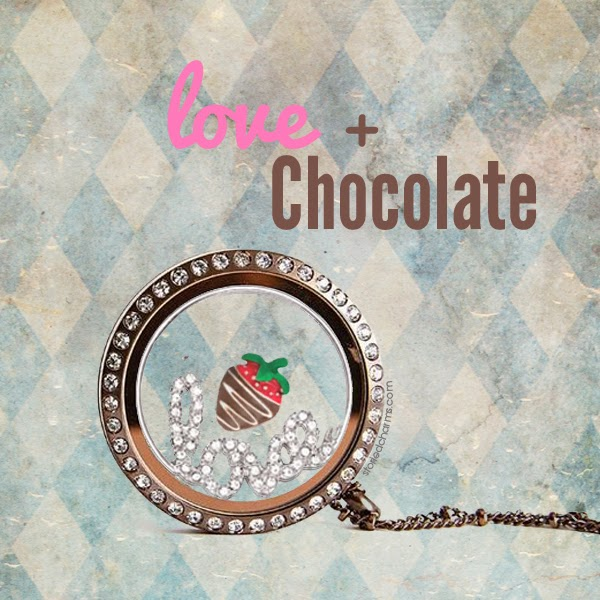 Love + Chocolate Origami Owl Living Locket | Shop StoriedCharms.com to create your own today!
