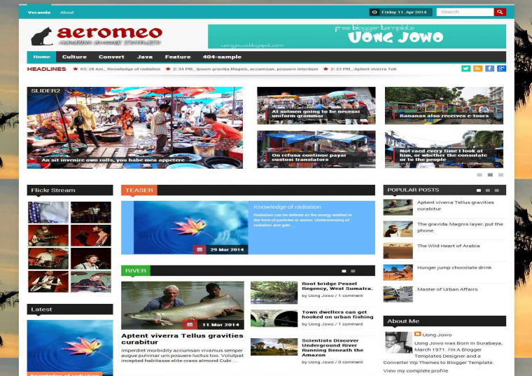 Aeromeo Responsive Blogger Template Free Download