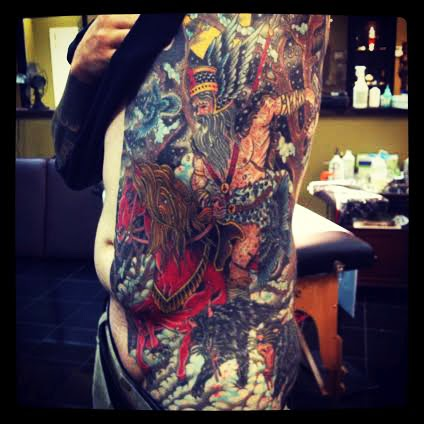 Thor the god of Thunder by tattoo artist Jason Kunz for Triumph Tattoo