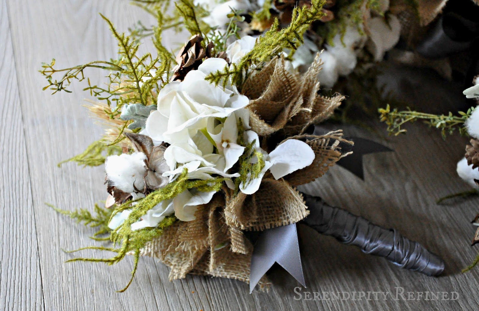 Serendipity Refined Blog Flowers for an Autumn Wedding Pinecones Roses Bu