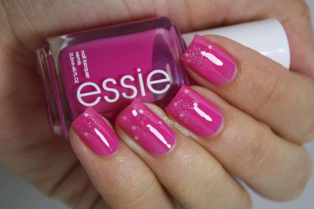 Grape Fizz Nails: Pink Week, Breast Cancer Awareness
