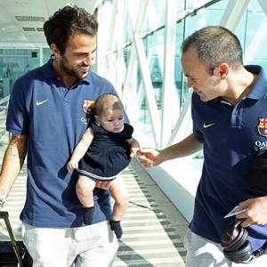 Фабрегас с ребенком