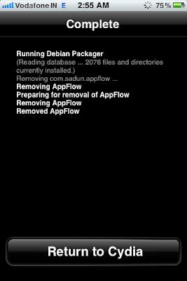 cydia app installation complete
