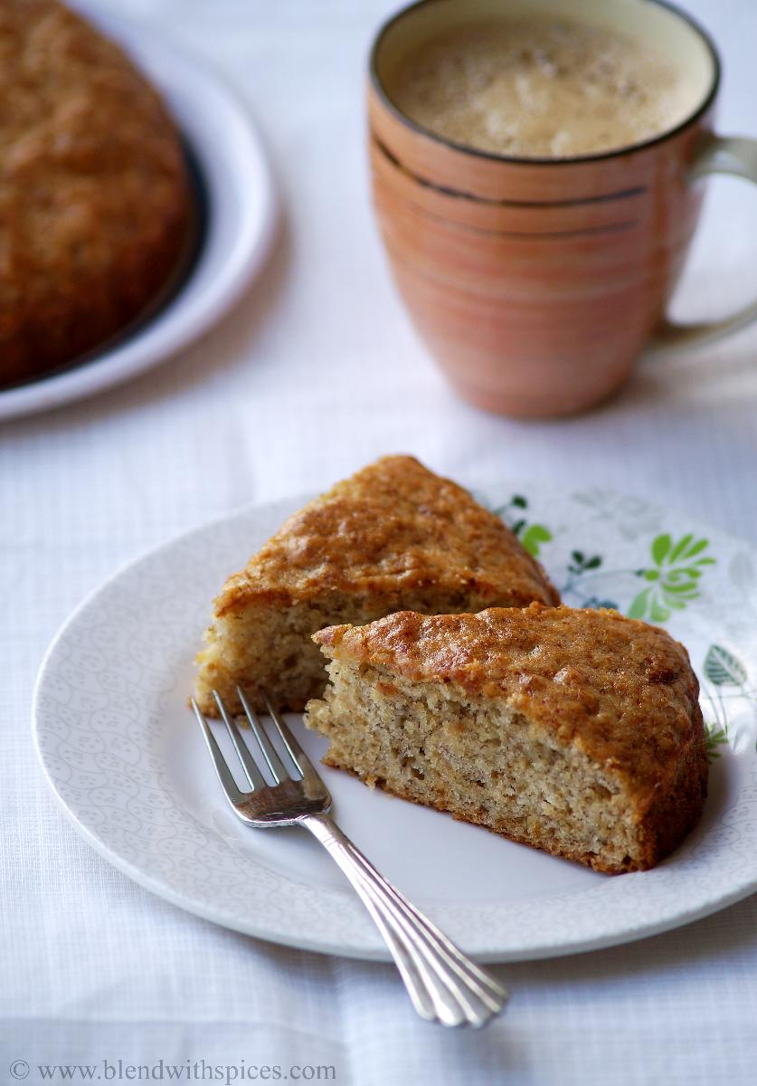 Cake Recipes With Step By Step Images : Eggless Banana Cake Recipe - Vegan Banana Cake Recipe ...