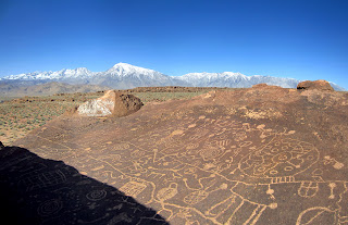 Sky Rock Petroglyphs on a clear day.