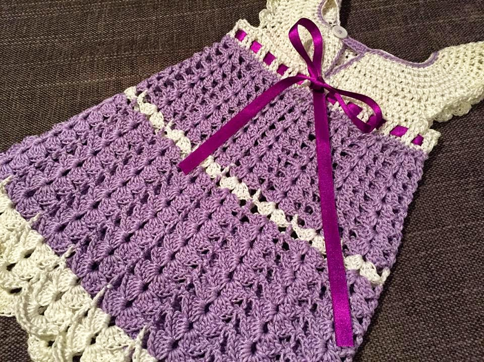 Crochet Patterns Step By Step : ... Daily Knitter & Crocheter: Crochet baby dress pattern - step by step