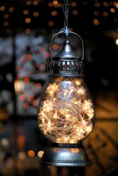leaf garland lantern