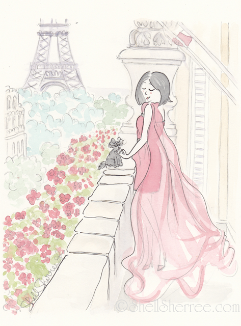 Fashion and fluffballs illustration :  The Scarlet Pimpernel in Paris © Shell-Sherree