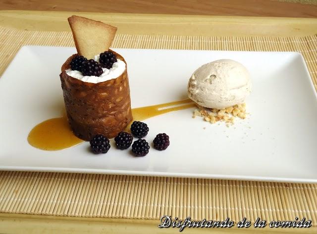 Mousse de Yogur y Helado de Té de Piña e Hibisco