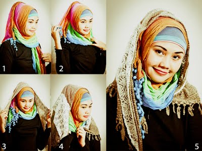 how to make hijab caps step by step