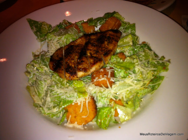 Grilled Chicken Caseser Salad - Outback Steakhouse