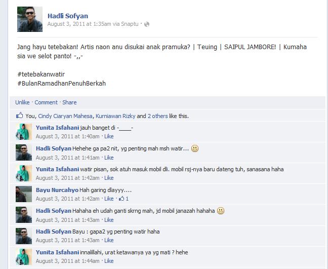 Coment Status Ka @Hadli_SH paling lucu Bulan Puasa tahun 2011