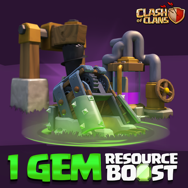 how to boost resources clash of clans