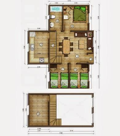 Planos de casas plano con buhardilla 78 m2 - Casas con buhardilla ...