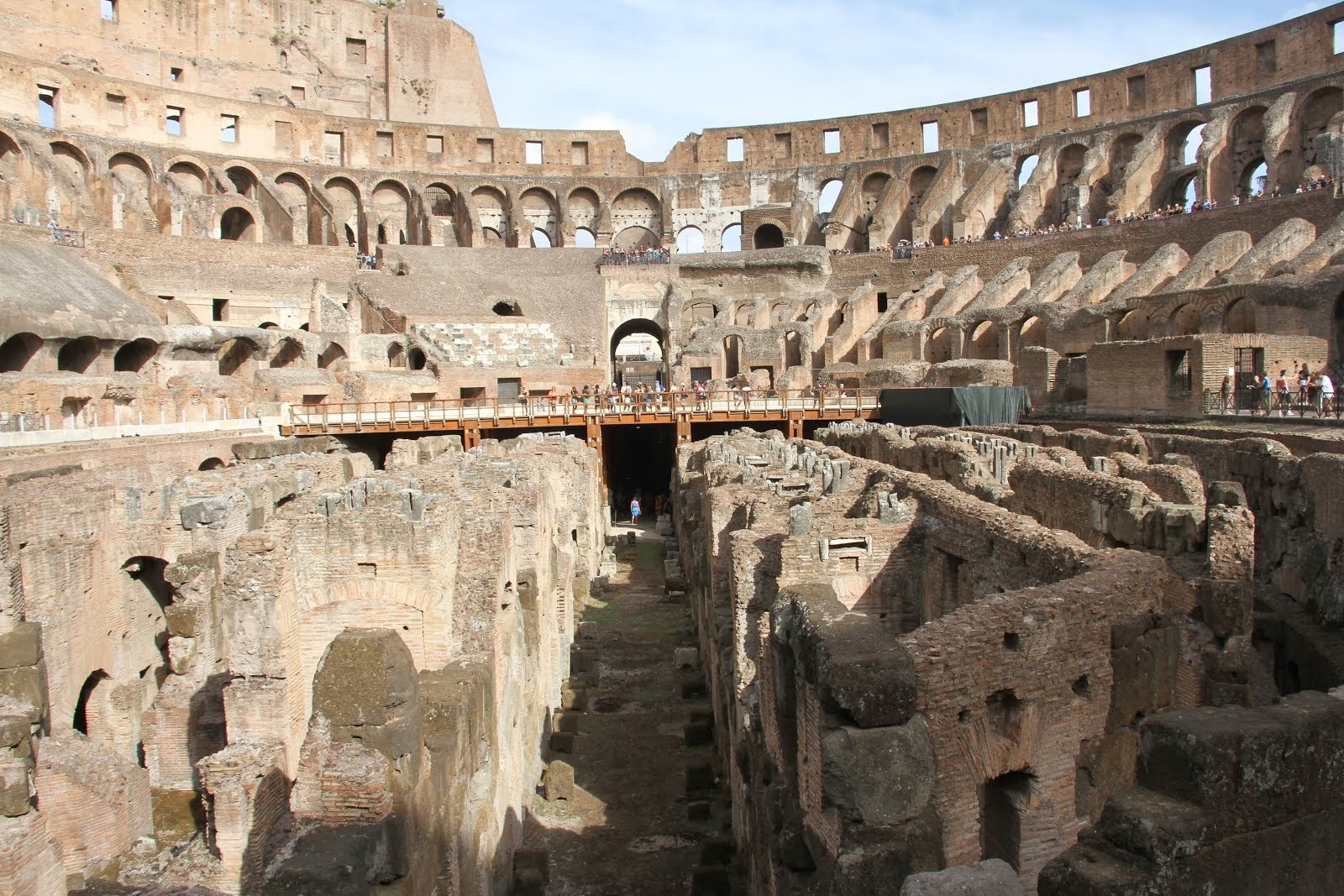 Exploring Inside the Colosseum in Rome