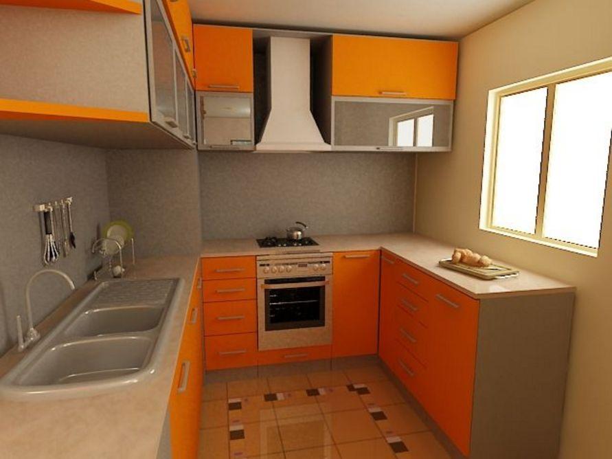 kreasi interior desain dapur kecil apartemen tampak indah