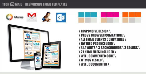 TechMail - Responsive Marketing Email Template