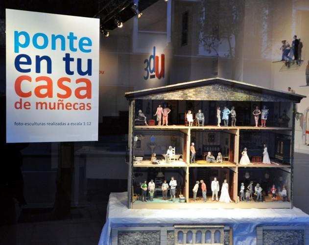 Figuras para casas de muñecas foto-esculturas 3d-u