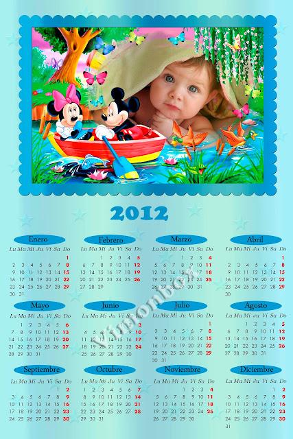 Calendario 2012 Bob Esponja.