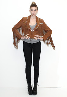 Vintage 1980's bohemian brown leather hippie fringe jacket