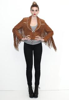 Vintage 1980's bohemian brown leather hippie fringe jacket