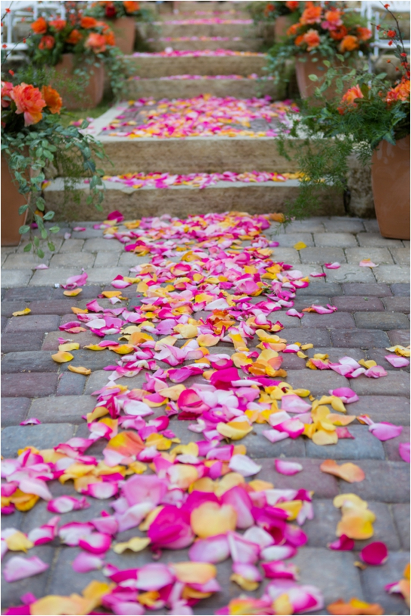 pink and yellow aisle