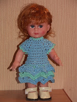Вязание для кукол крючком. Одежда. Платье. Описание.