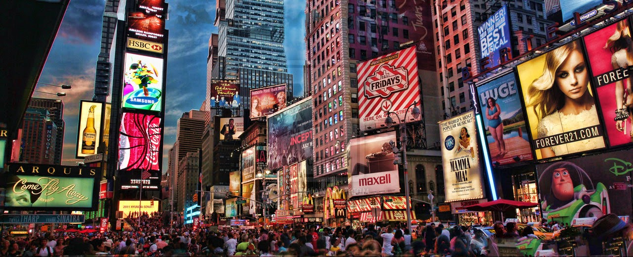 Times Square HDR Panorama by © vvmasterdrfan