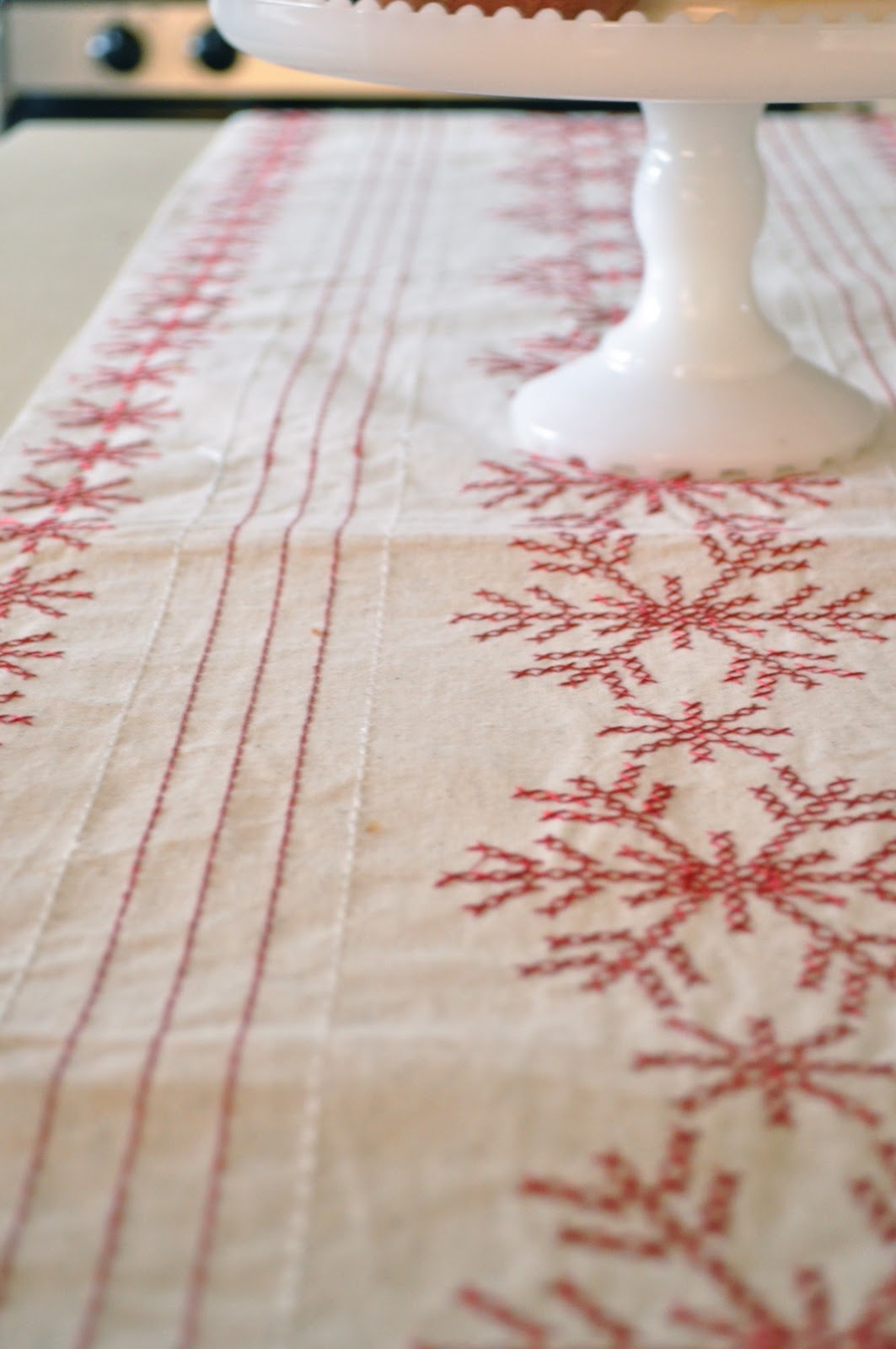 Pops Of Reda Mini Holiday Kitchen Tour For Christmas - Target table linens