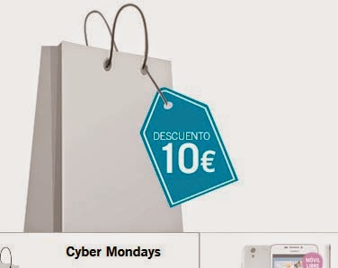 Cyber Mondays: 10€ de descuento por ser lunes