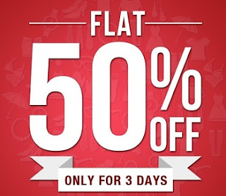 Jabong Offer: Enjoy Flat 50% + 25% Extra Off on Men's / Women's Fashionwears (Valid for 3 Days Only)