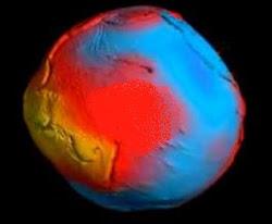 Mapa da gravidade da Terra 1