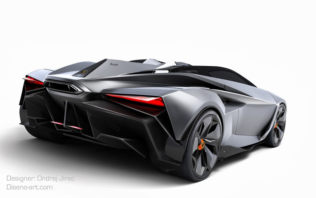 Jet Fighter-Inspired Lamborghini Perdion Concept by Ondrej Jirec