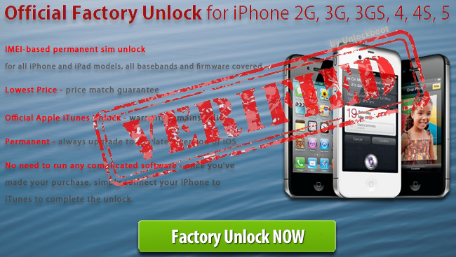 factory Unlock iPhone 4S