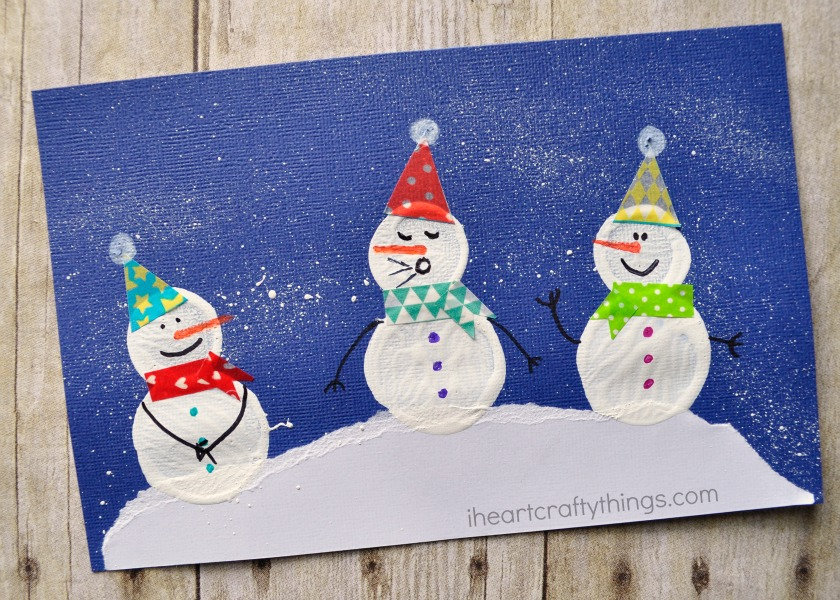 Adorable bottle cap printed snowman craft i heart crafty for Crafts to do with bottle caps