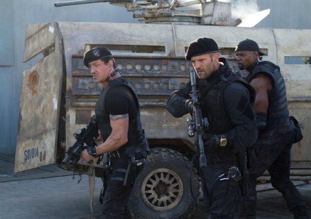 Sylvester Stallone, Jason Statham, Terry Crews