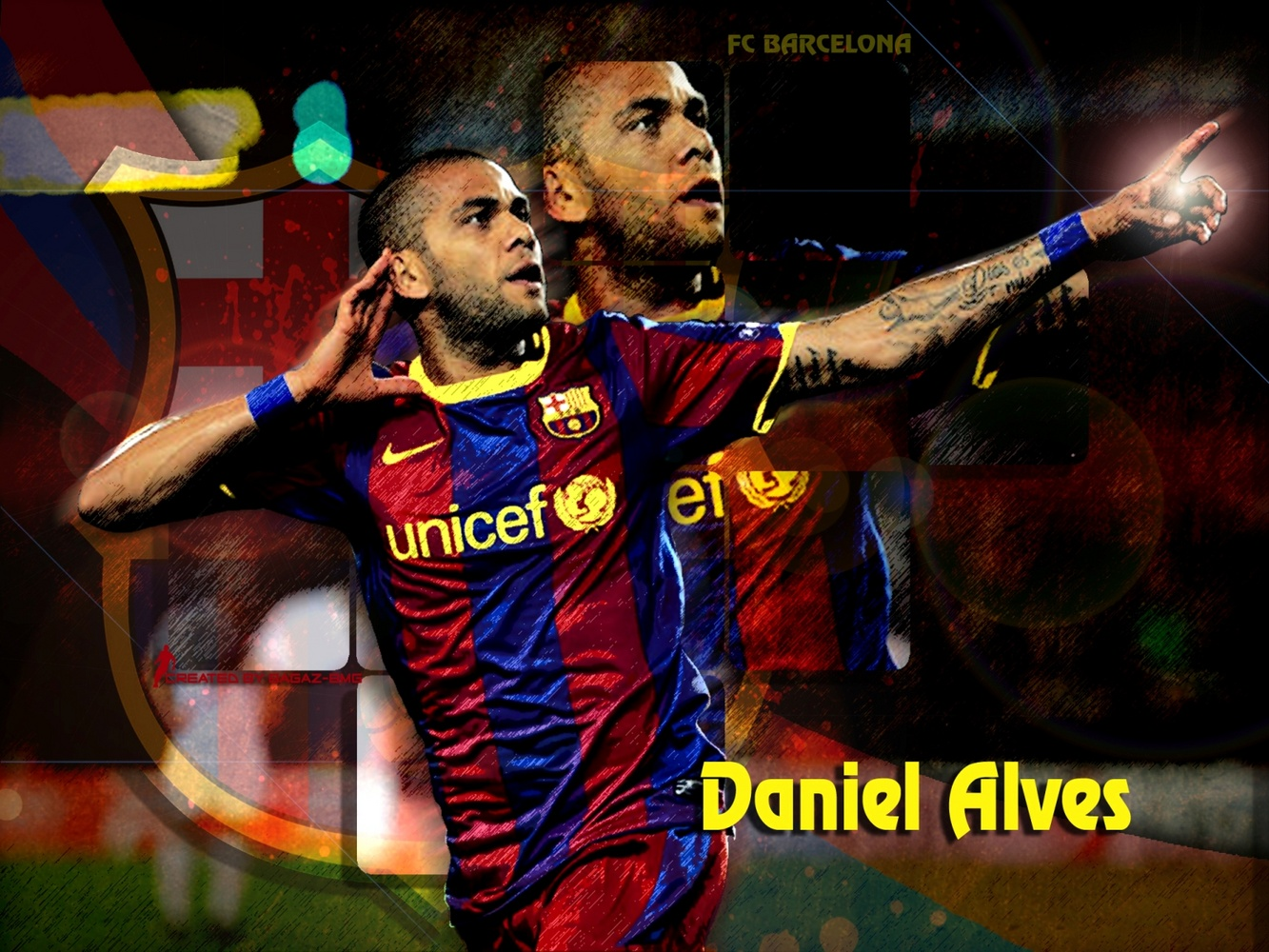 Daniel Alves Wallpaper #2 - FC Barcelona Wallpapers
