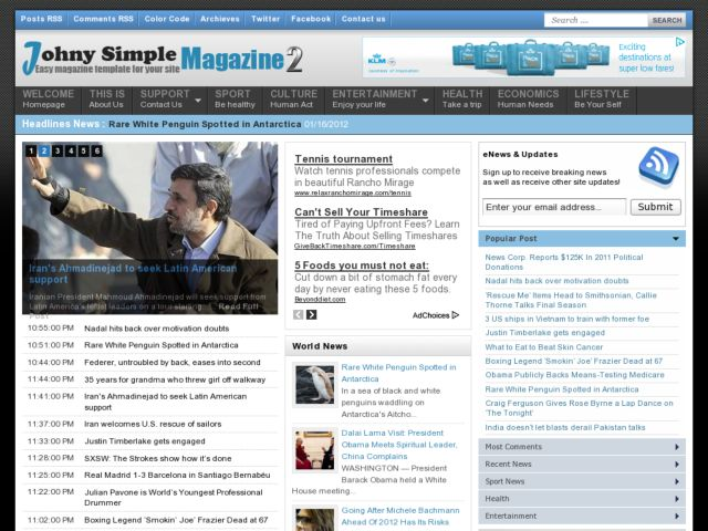 Johny Simple Magazine Blogger Template | Blogger Templates Gallery