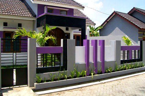 Contoh Kombinasi Warna Cat Dinding Pagar Rumah Minimalis