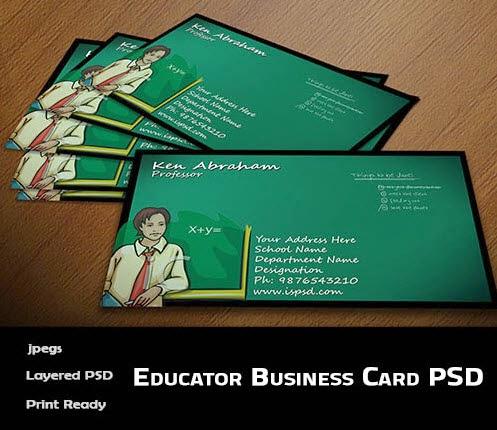 Educator Business Card Template