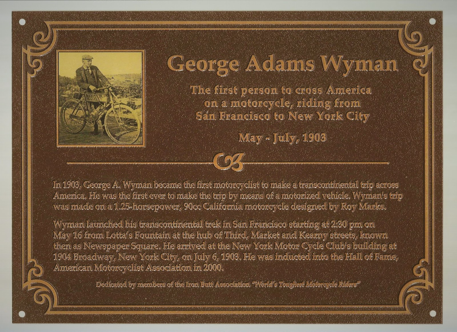 """The George A. Wyman Memorial Project: """"Friends of George"""""""
