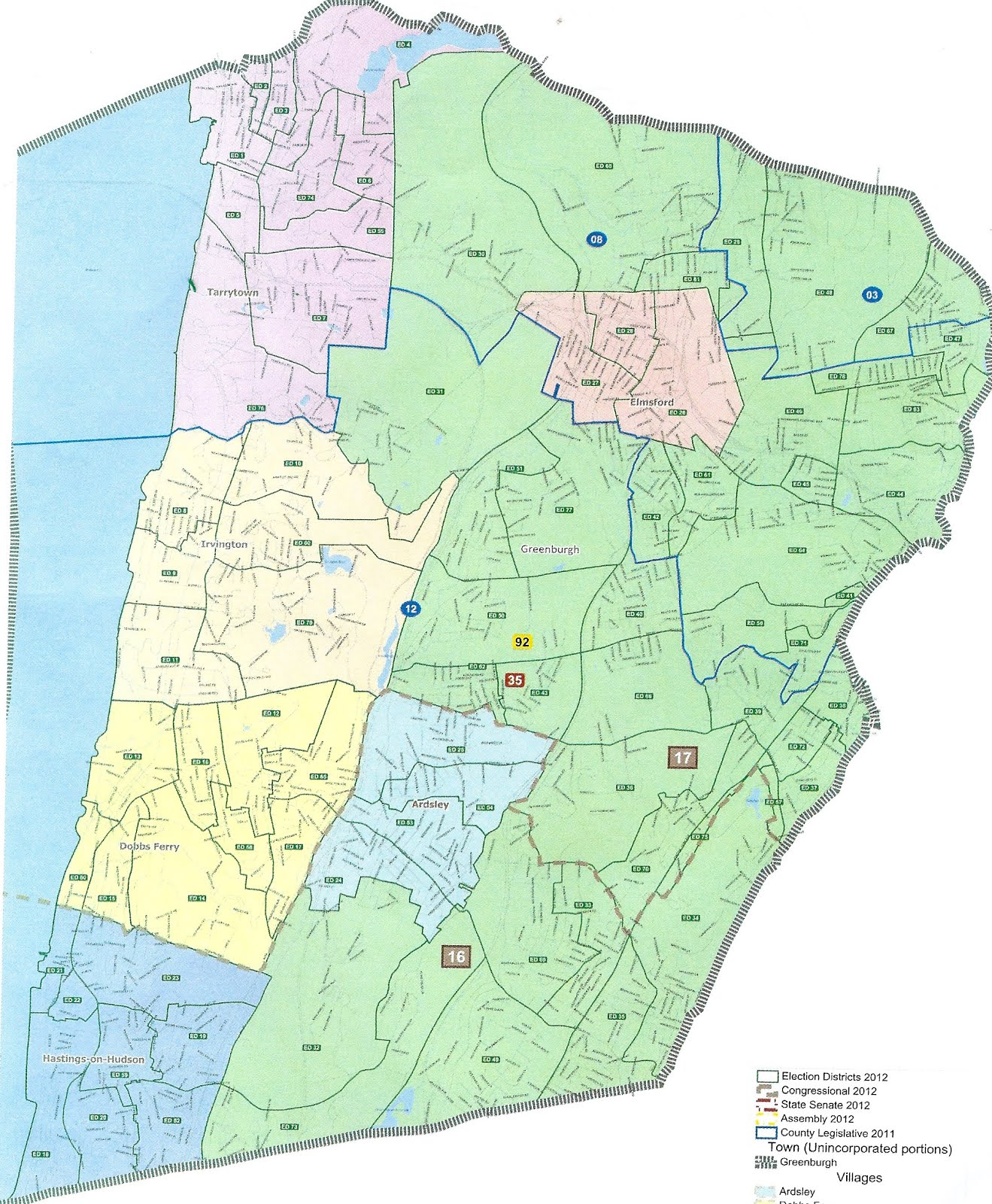 greenburgh election districts map