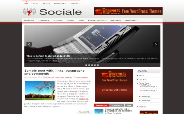 Social Business Free Wordpress Theme Template