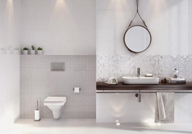 Azulejos blancos para ba os 9 ejemplos imprescindibles - Azulejos rusticos para bano ...