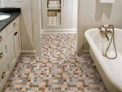 Tile bathroom floor