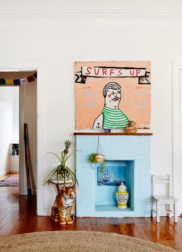 ozzie wright,ozziewrong,surfeur,peintre,artiste,australie,beach bungalow,déco,lifestyle,design files