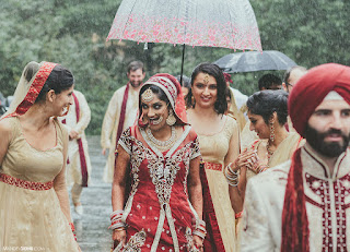 Indian Wedding Planning Tips for a Rainy Wedding! | Bride Smiling Under the Rain