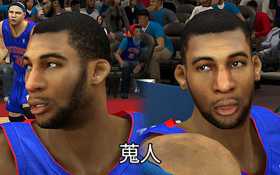 NBA 2K13 Andre Drummond Cyberface Patch