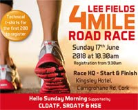 4 mile race in Cork City... Sun 17th June 2018