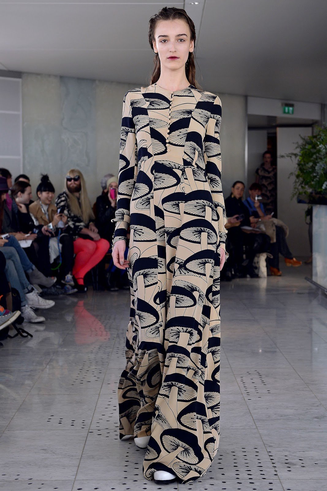Kinder Aggugini mushroom print dress, Fall/Winter 2013-2014 RTW collection